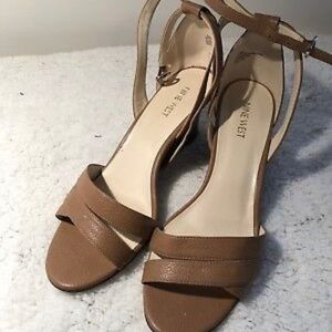 Nine West Revive Wedge Ankle Strap Sandals Size 11